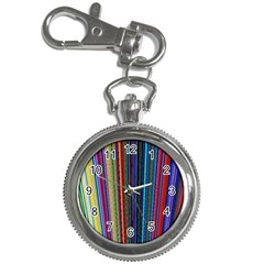 Multi Colored Lines Key Chain Watches