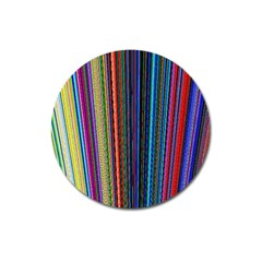 Multi Colored Lines Magnet 3  (round)