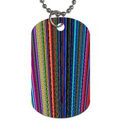 Multi Colored Lines Dog Tag (Two Sides)