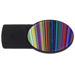 Multi Colored Lines USB Flash Drive Oval (2 GB)