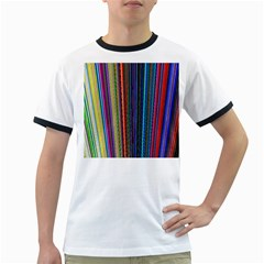 Multi Colored Lines Ringer T-Shirts