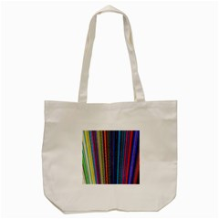 Multi Colored Lines Tote Bag (cream)