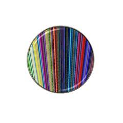 Multi Colored Lines Hat Clip Ball Marker