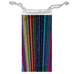Multi Colored Lines Jewelry Bag