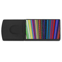 Multi Colored Lines USB Flash Drive Rectangular (4 GB)