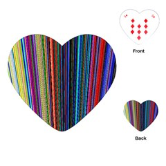 Multi Colored Lines Playing Cards (heart)