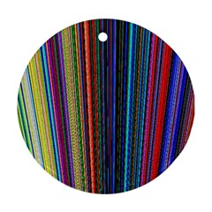 Multi Colored Lines Round Ornament (Two Sides)