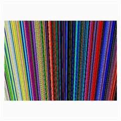 Multi Colored Lines Large Glasses Cloth