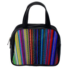 Multi Colored Lines Classic Handbags (One Side)