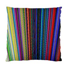 Multi Colored Lines Standard Cushion Case (One Side)