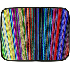 Multi Colored Lines Double Sided Fleece Blanket (mini)