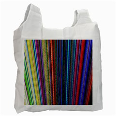 Multi Colored Lines Recycle Bag (one Side)