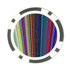 Multi Colored Lines Poker Chip Card Guard (10 pack)