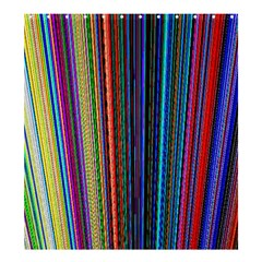Multi Colored Lines Shower Curtain 66  X 72  (large)