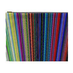 Multi Colored Lines Cosmetic Bag (xl)