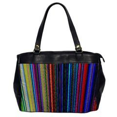 Multi Colored Lines Office Handbags