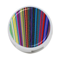 Multi Colored Lines 4-Port USB Hub (Two Sides)