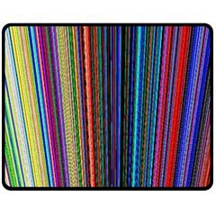 Multi Colored Lines Fleece Blanket (Medium)