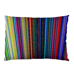Multi Colored Lines Pillow Case (Two Sides)