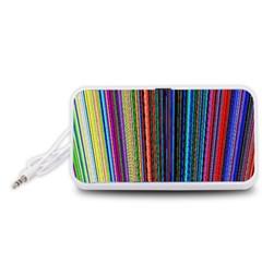 Multi Colored Lines Portable Speaker (White)