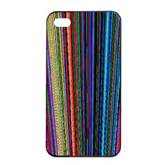 Multi Colored Lines Apple iPhone 4/4s Seamless Case (Black)