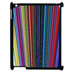 Multi Colored Lines Apple iPad 2 Case (Black)