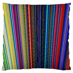 Multi Colored Lines Large Cushion Case (one Side)