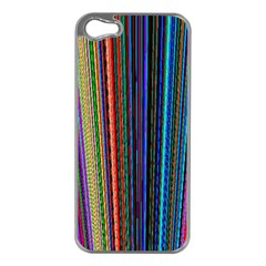 Multi Colored Lines Apple iPhone 5 Case (Silver)