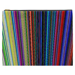 Multi Colored Lines Cosmetic Bag (XXXL)