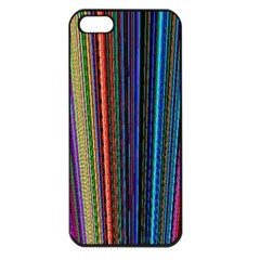Multi Colored Lines Apple iPhone 5 Seamless Case (Black)