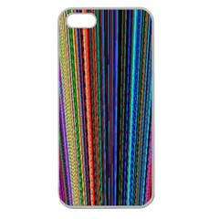 Multi Colored Lines Apple Seamless iPhone 5 Case (Clear)