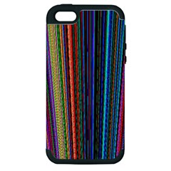 Multi Colored Lines Apple iPhone 5 Hardshell Case (PC+Silicone)