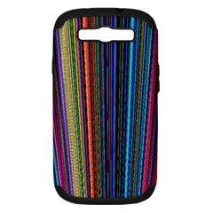 Multi Colored Lines Samsung Galaxy S III Hardshell Case (PC+Silicone)