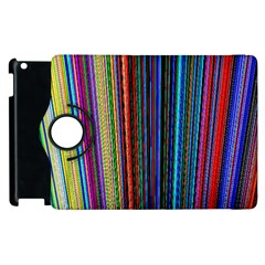 Multi Colored Lines Apple iPad 2 Flip 360 Case