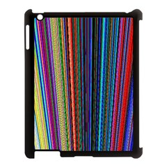 Multi Colored Lines Apple iPad 3/4 Case (Black)