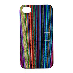 Multi Colored Lines Apple iPhone 4/4S Hardshell Case with Stand