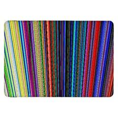 Multi Colored Lines Samsung Galaxy Tab 8.9  P7300 Flip Case