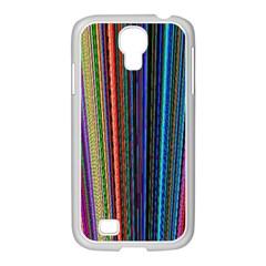 Multi Colored Lines Samsung GALAXY S4 I9500/ I9505 Case (White)
