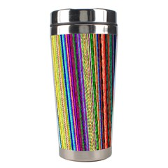 Multi Colored Lines Stainless Steel Travel Tumblers