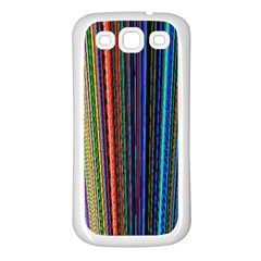 Multi Colored Lines Samsung Galaxy S3 Back Case (White)
