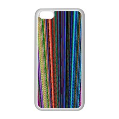 Multi Colored Lines Apple iPhone 5C Seamless Case (White)