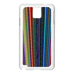 Multi Colored Lines Samsung Galaxy Note 3 N9005 Case (white)