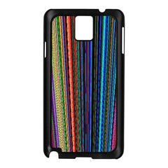 Multi Colored Lines Samsung Galaxy Note 3 N9005 Case (black)