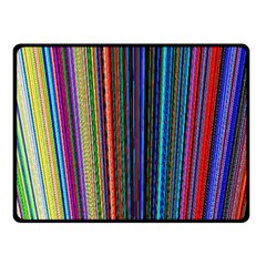 Multi Colored Lines Double Sided Fleece Blanket (Small)