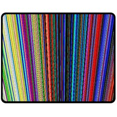 Multi Colored Lines Double Sided Fleece Blanket (Medium)