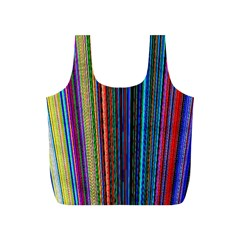 Multi Colored Lines Full Print Recycle Bags (S)