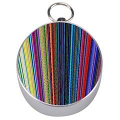 Multi Colored Lines Silver Compasses