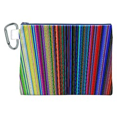 Multi Colored Lines Canvas Cosmetic Bag (XXL)