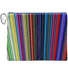 Multi Colored Lines Canvas Cosmetic Bag (XXXL)
