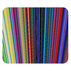 Multi Colored Lines Double Sided Flano Blanket (Small)